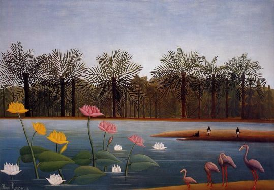 henri-rousseau-the-flamingos
